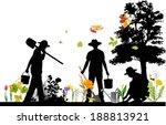 gardener. all elements and... | Shutterstock .eps vector #188813921