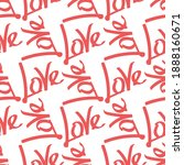 love word on a white background.... | Shutterstock .eps vector #1888160671