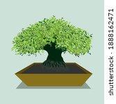vector illustration of bonsai... | Shutterstock .eps vector #1888162471