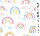 rainbow seamless pattern....   Shutterstock .eps vector #1888169167