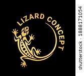 gold gecko lizard logo graphic... | Shutterstock .eps vector #1888171054