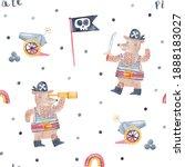 cute teddy bear pirate.... | Shutterstock . vector #1888183027