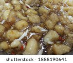 Small photo of Fish maw Chinese food made from fish maw, boiled until cooked. It is a healthy food.