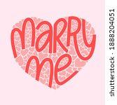 marry me hand lettering vector... | Shutterstock .eps vector #1888204051