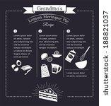 chalkboard meal recipe template ... | Shutterstock .eps vector #188821037