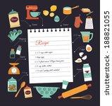 chalkboard meal recipe template ...