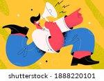 announcement  speaker ... | Shutterstock .eps vector #1888220101