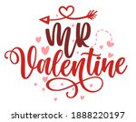 mr valentine   calligraphy... | Shutterstock .eps vector #1888220197