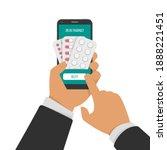 buying medical pills  tablet or ... | Shutterstock . vector #1888221451