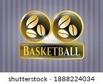 golden emblem or badge with... | Shutterstock .eps vector #1888224034