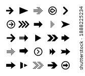 black arrow icons set. arrow... | Shutterstock .eps vector #1888225234