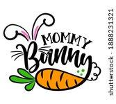 mommy bunny   cute easter bunny ... | Shutterstock .eps vector #1888231321