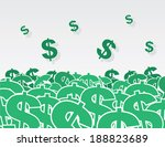 large pile of dollar signs  | Shutterstock .eps vector #188823689
