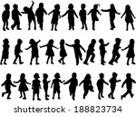 children silhouettes | Shutterstock .eps vector #188823734