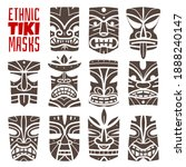 hawaiian masks prints. tiki...   Shutterstock .eps vector #1888240147