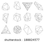 abstract modern  polygonal... | Shutterstock . vector #188824577