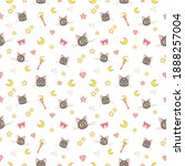 luna cat patter design. sailor...   Shutterstock .eps vector #1888257004
