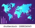 vector illustration of planet... | Shutterstock .eps vector #188826065