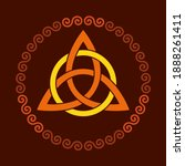 colored triquetra with circle ... | Shutterstock .eps vector #1888261411