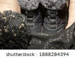 Black Snow Boots And Winter...