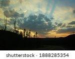 The Sunset At Yellowstone...