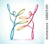 dancing string figures vector | Shutterstock .eps vector #188829185