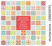 vector set of different retro... | Shutterstock .eps vector #188830091