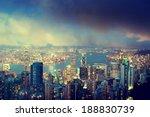 hong kong island from victoria... | Shutterstock . vector #188830739