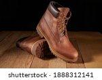 Pair Of Men Leather Brown...
