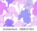 seamless pattern with violet...   Shutterstock .eps vector #1888317601