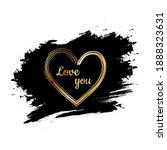 golden heart on a black... | Shutterstock .eps vector #1888323631