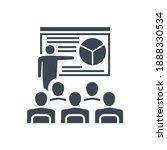 presentation related glyph icon.... | Shutterstock . vector #1888330534
