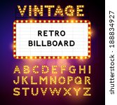 retro billboard waiting for... | Shutterstock .eps vector #188834927