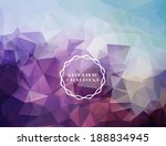 abstract polygonal background | Shutterstock .eps vector #188834945