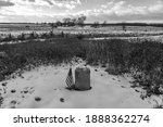 A Black And White Photo Of An...
