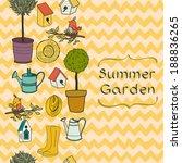 garden seamless pattern with... | Shutterstock .eps vector #188836265