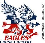 eagles cross country team... | Shutterstock .eps vector #1888382464