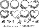 floral frame cutting templates  ... | Shutterstock .eps vector #1888385251