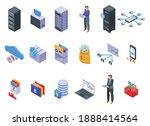 customer database icons set.... | Shutterstock .eps vector #1888414564