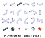 pipe icons set. isometric set... | Shutterstock .eps vector #1888414657