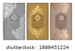 silver and gold vintage set of... | Shutterstock .eps vector #1888451224