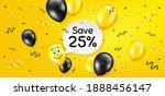 save 25 percent off. balloon...   Shutterstock .eps vector #1888456147