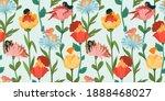 seamless pattern with women... | Shutterstock .eps vector #1888468027