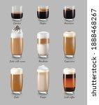 coffee drinks realistic set...   Shutterstock .eps vector #1888468267