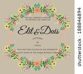 wedding invitation | Shutterstock .eps vector #188846894