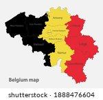 map of the belgium in the...   Shutterstock .eps vector #1888476604