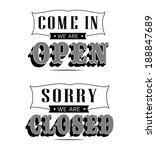 open and closed vintage retro... | Shutterstock . vector #188847689