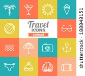 set of flat travel icons  | Shutterstock .eps vector #188848151