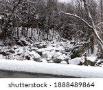 Winter Snow On Bridge With...