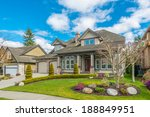 luxury house at sunny day in... | Shutterstock . vector #188849951